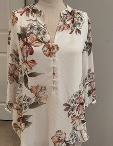 WHBM floral blouse